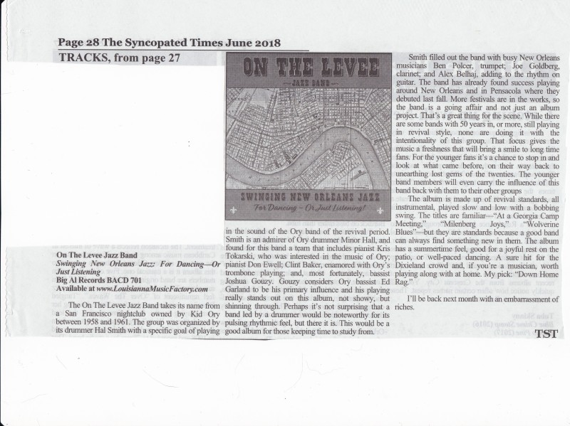On The Levee CD review SYNCOPATED TIMES