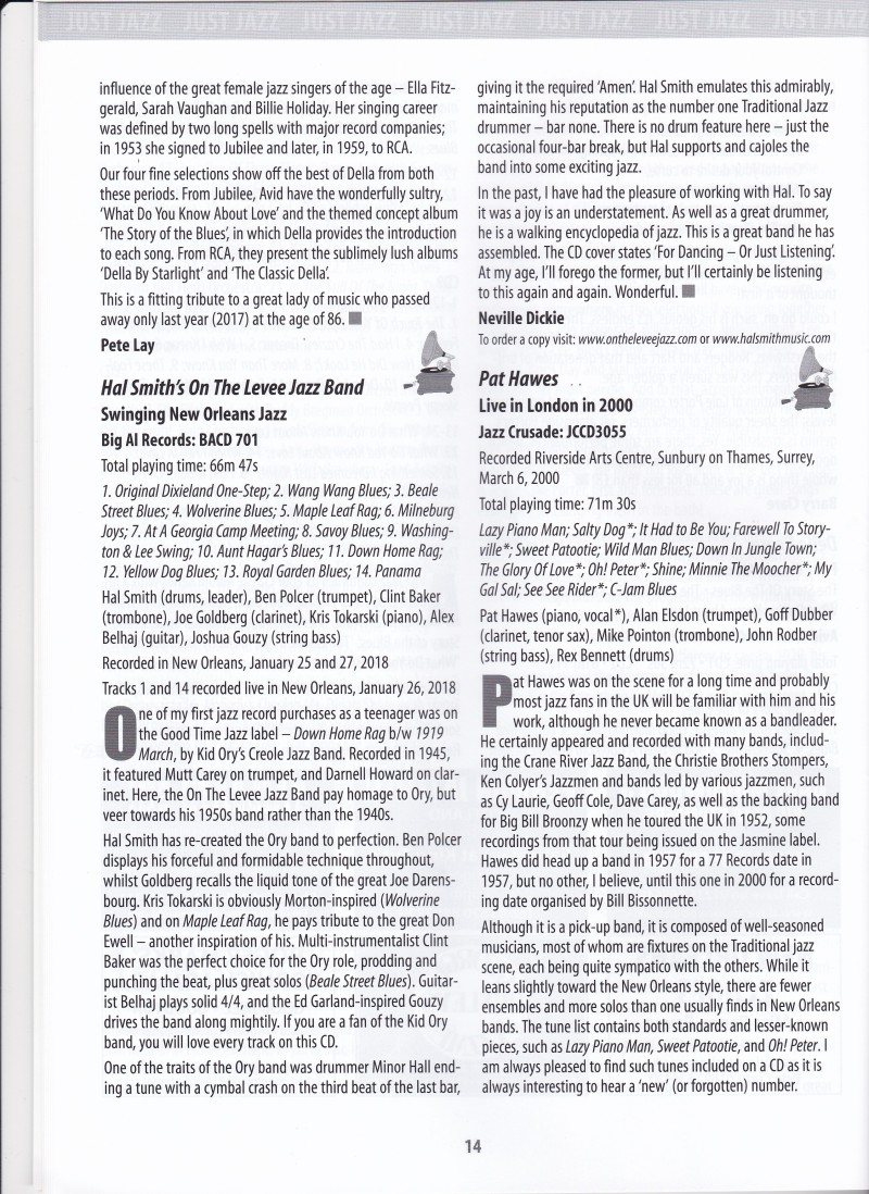 OTL CD Review JUST JAZZ July 2018