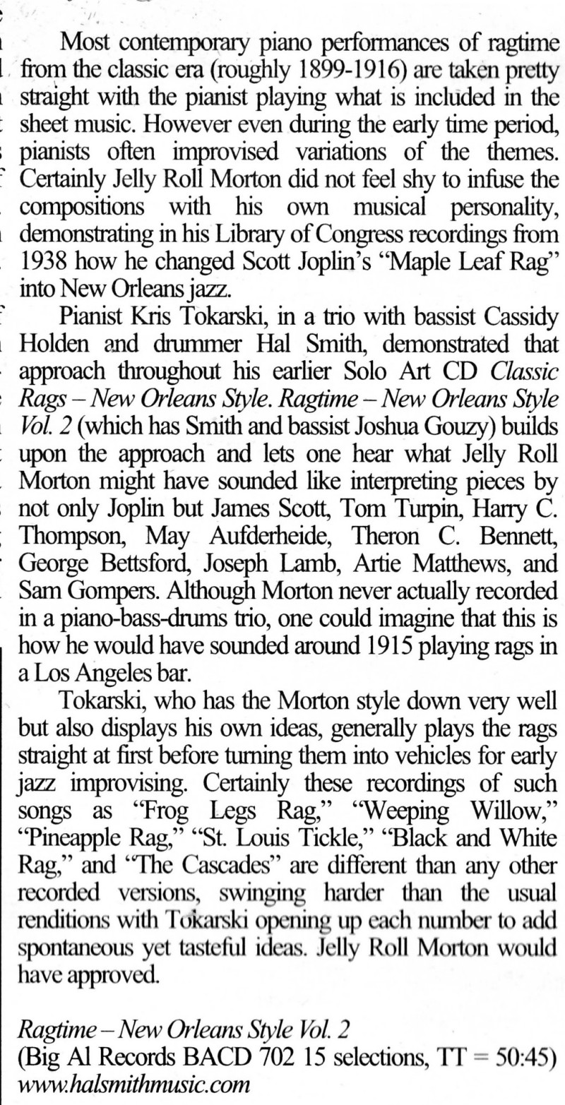 RNOS2 Review from Feb 2019 Syncopated Times