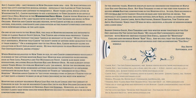 Ragtime New Orleans Style vol. 2 liner notes