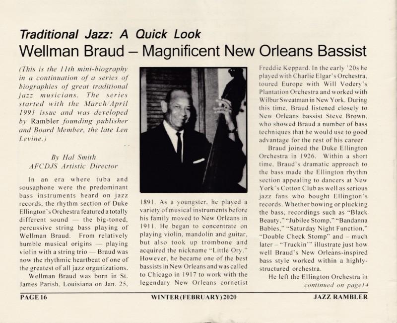 W. Braud article